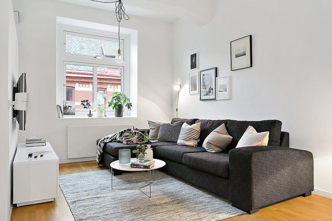 Серый цвет в интерьере гостиной и спальни