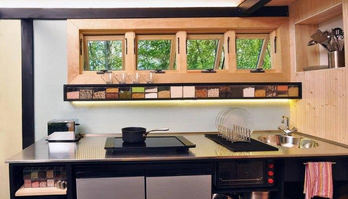 кухня в доме на колесах