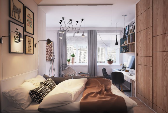 Дизайн-проект квартиры-студии 40 кв. м.