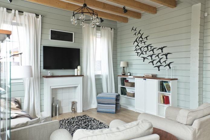 интерьер дома в пастельных тонах