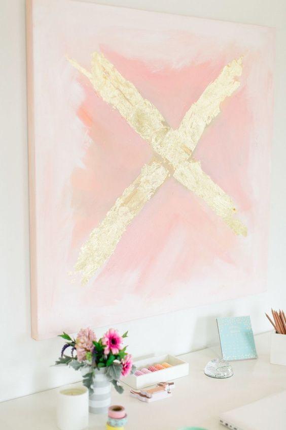светло-розовый постер