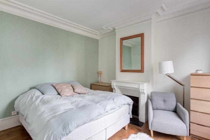 пастельный дизайн спальни