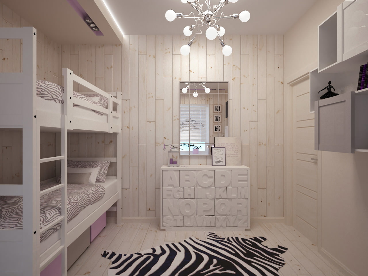 Детская комната 10 кв. м. - уютный и стильный 93