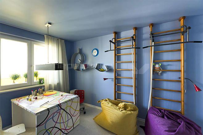 Разделение детской комнаты на функциональные зоны