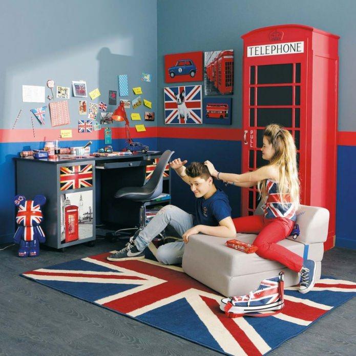 Дизайн комнаты в английском стиле
