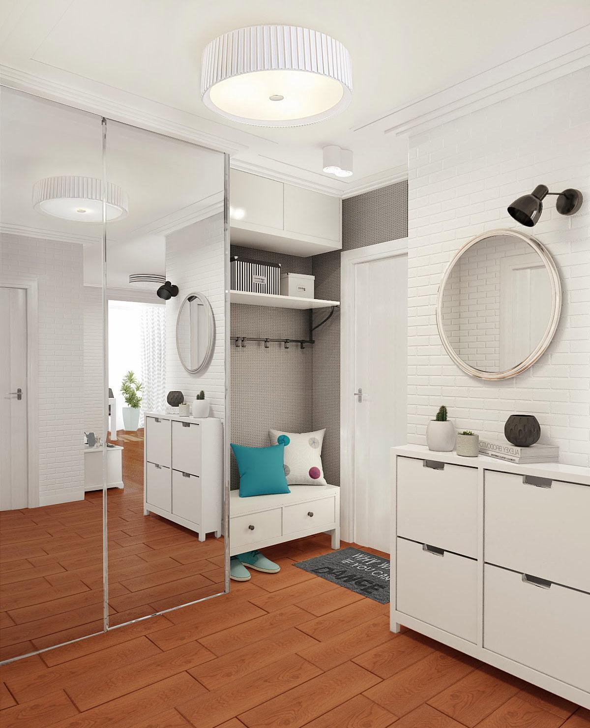 Мебель в прихожую белого цвета