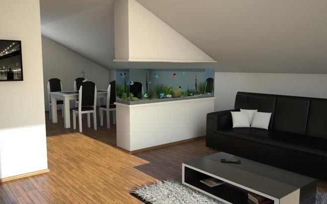 Комната с аквариумом фото