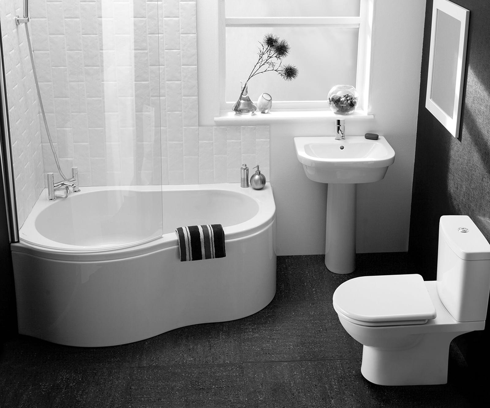Черный пол в ванной фото