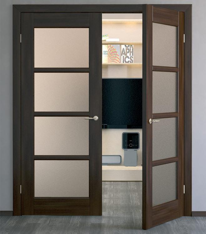 Двери в зал двойные фото