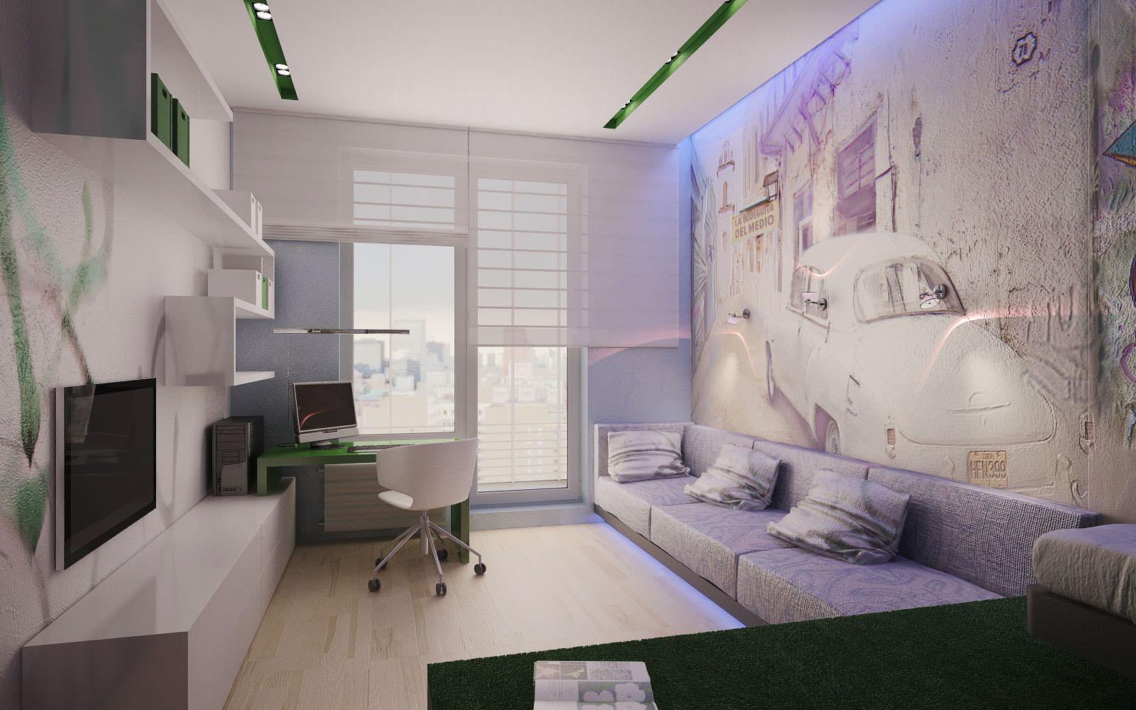 Дизайн кабинета гостиной