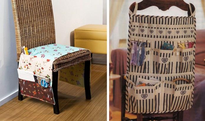 стул с кармашками для мелочей