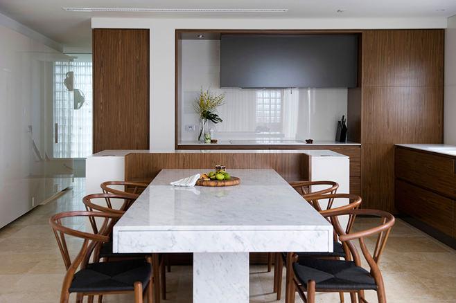 Дизайн гостиной, кухни и столовой от Minosa Design Studio
