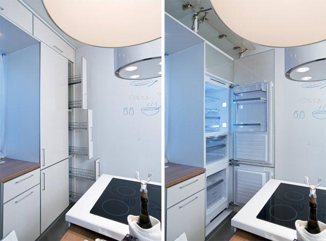 Куда поставить холодильник на кухне?