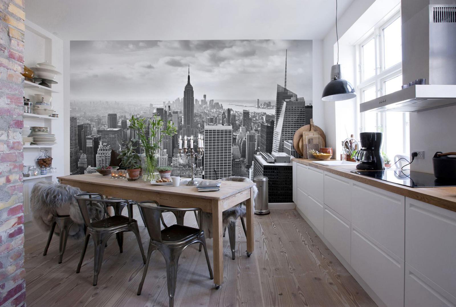 фото кухня с фотообоями