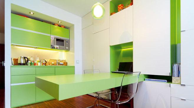 Кухня в оранжевом цвете дизайн с