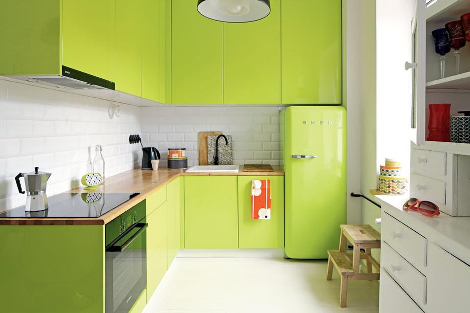 Уютные и стильные кухни в зеленых тонах