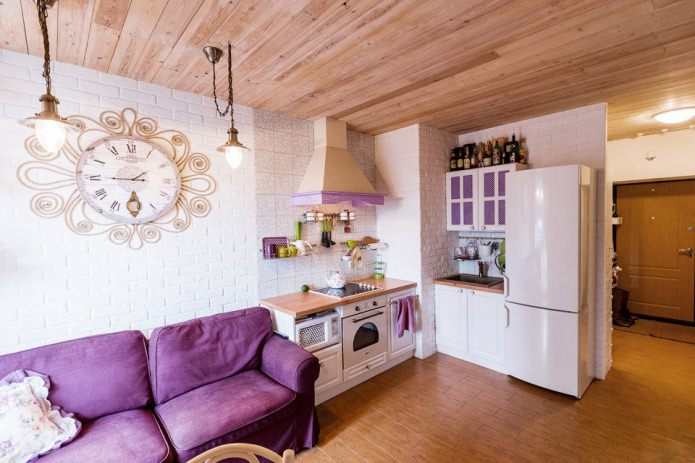 маленькая кухня-гостиная