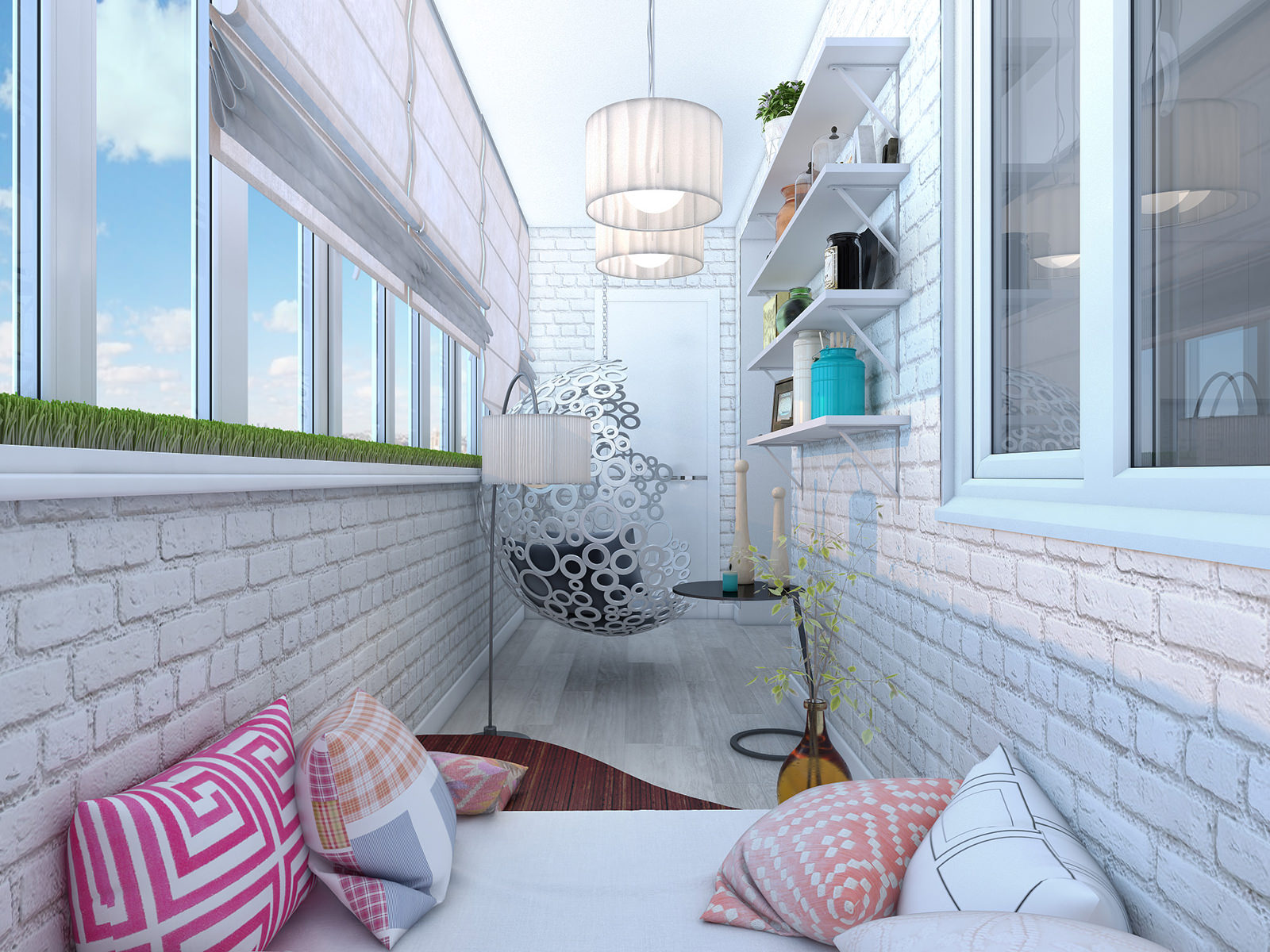Дизайн маленького балкона - designinsider.ru.