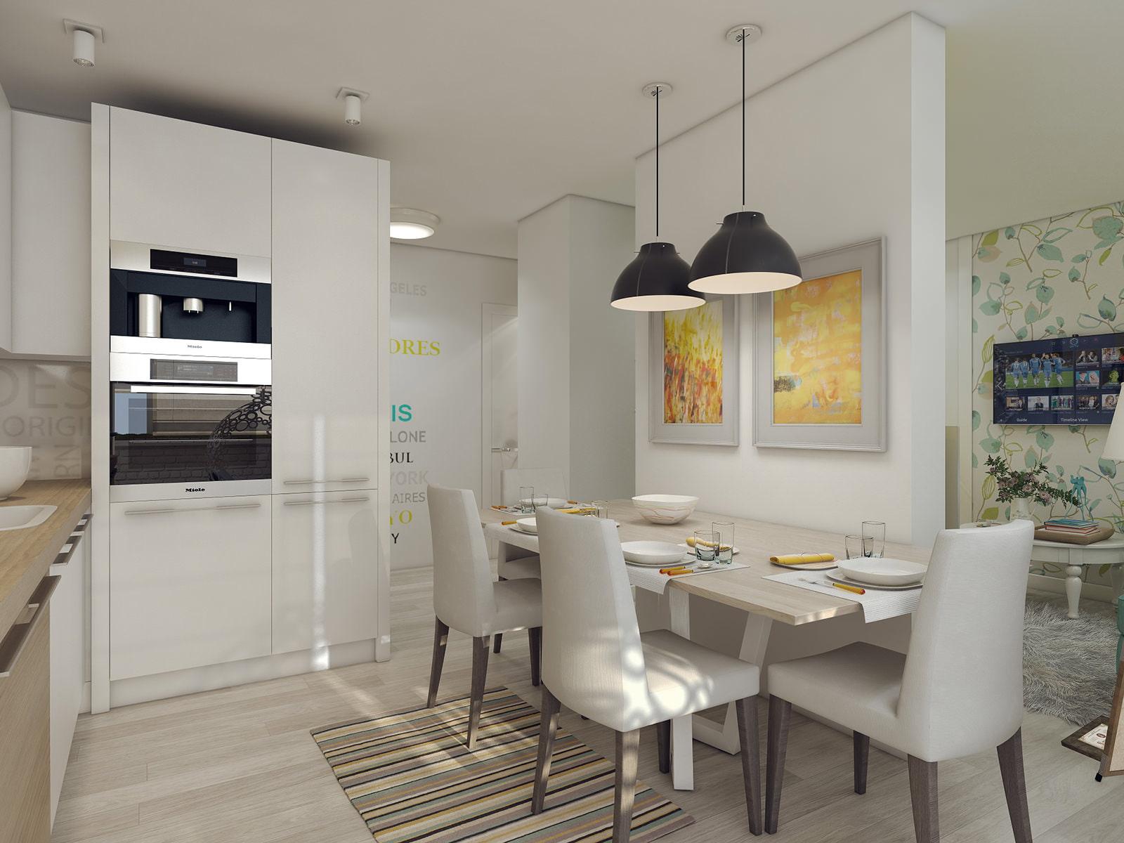 Дизайн интерьер 3-х комнатных квартир