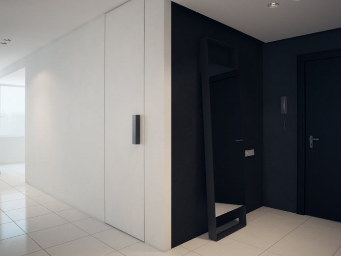 коридор в дизайне квартиры 76 кв. м.