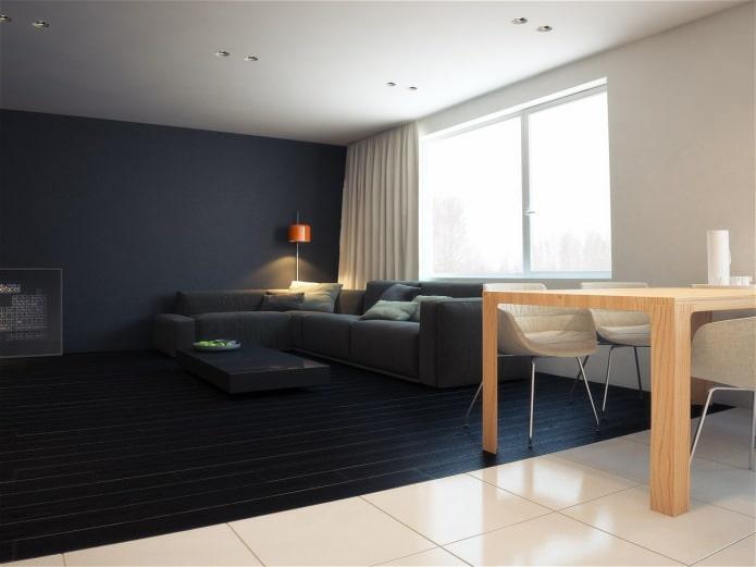гостиная в дизайне квартиры 76 кв. м.