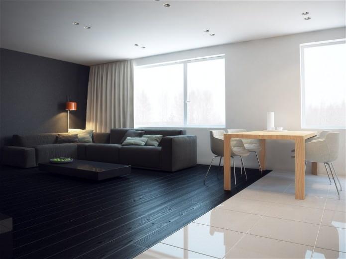 гостиная в дизайне квартиры 76 кв. м