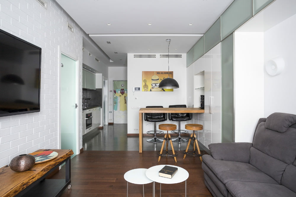 Дизайн квартиры студии 26 кв.м фото