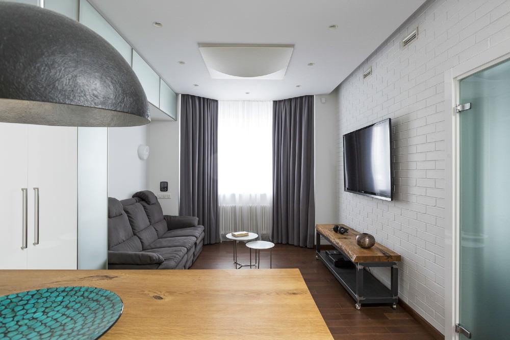 Однокомнатная квартира дизайн фото 43 кв.м