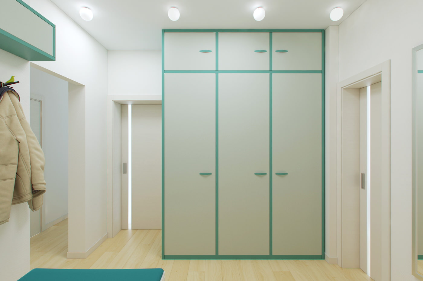 Дизайн двухкомнатной квартиры 55 кв. м..