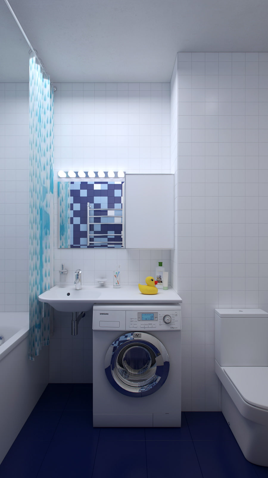 Дизайн ванной комнаты маленького размера со стиральной машиной фото