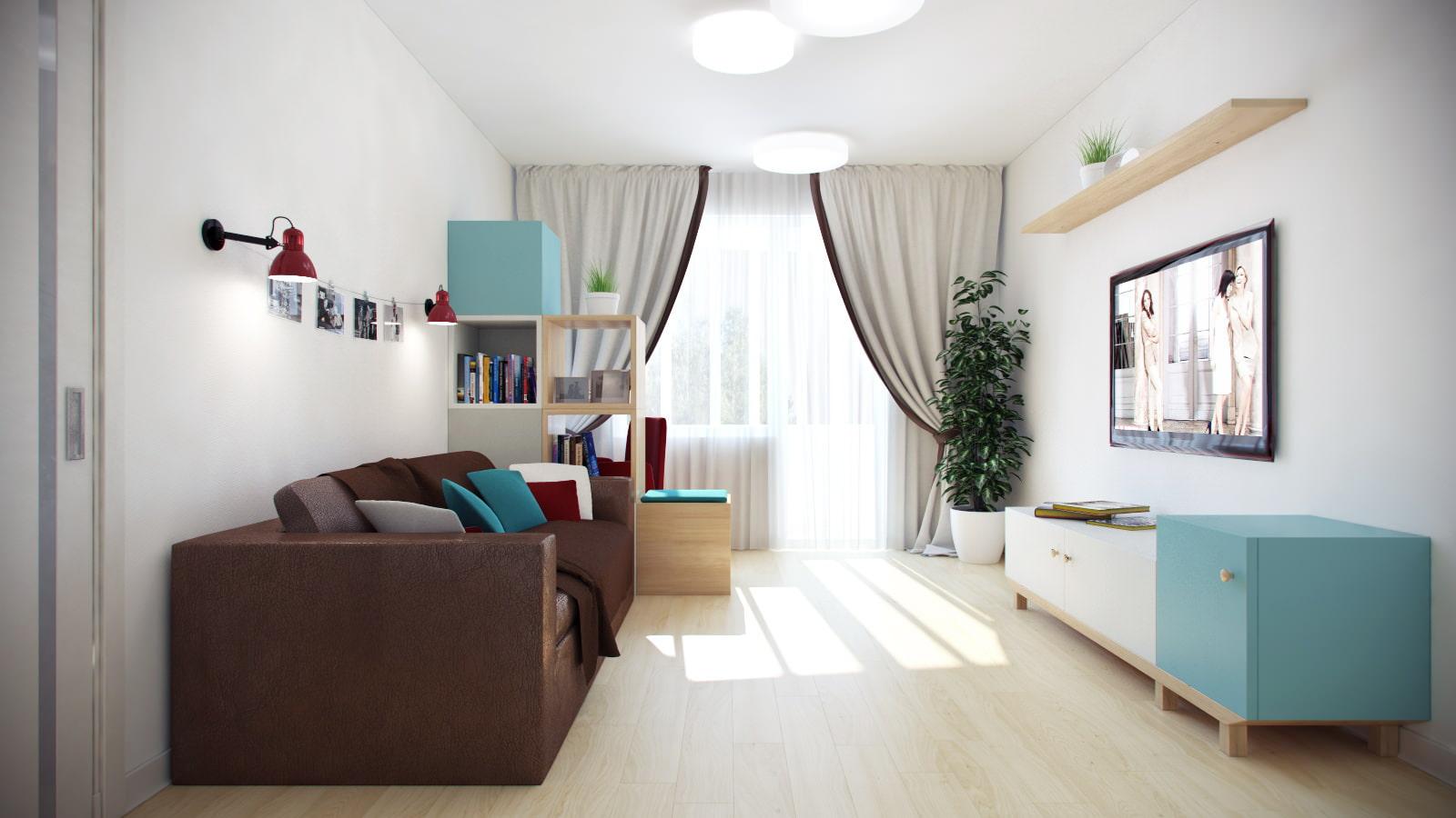 Дизайн проект двухкомнатной квартиры 55 метров