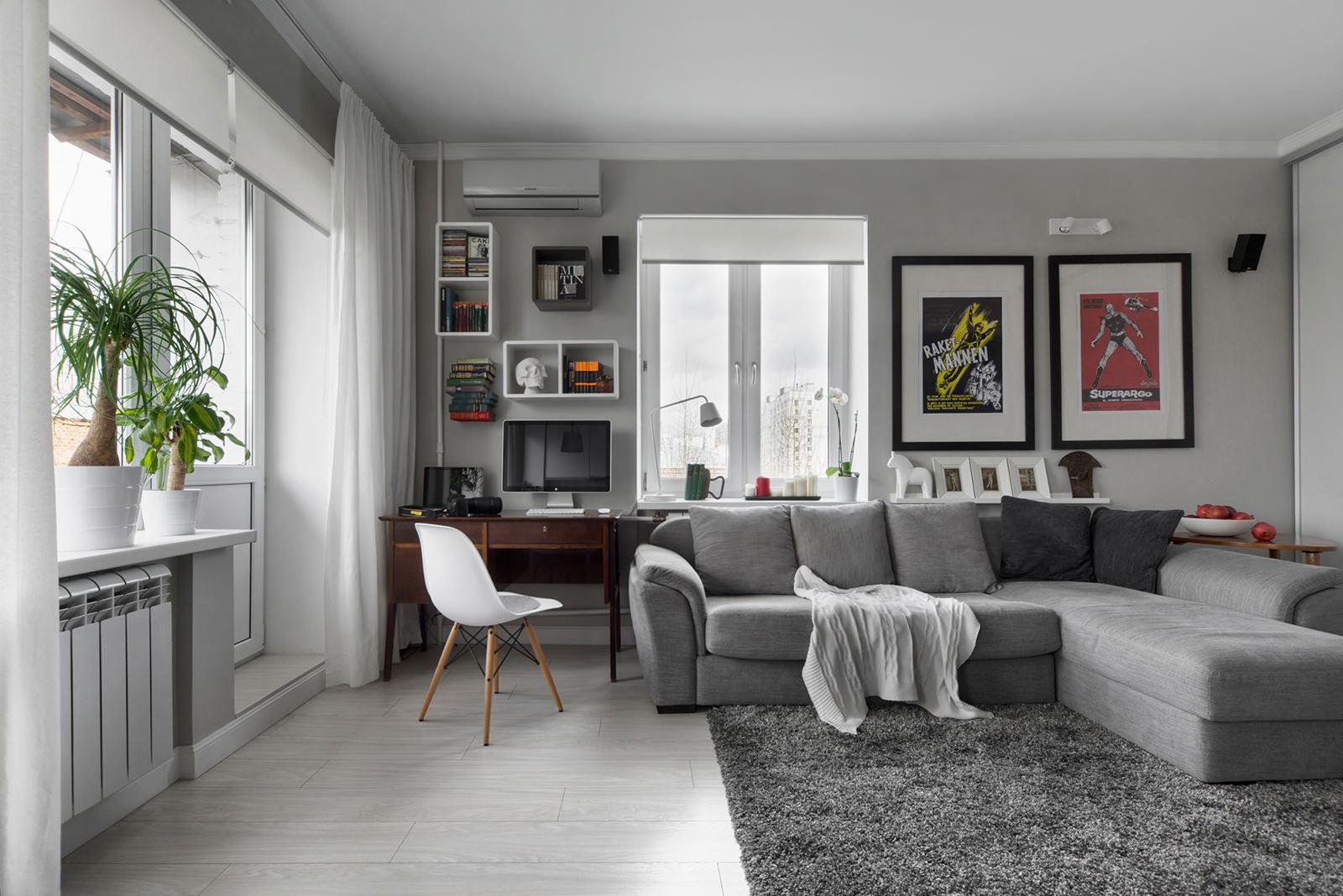 Дизайн квартиры-студии: 50 фото, 12 современных проектов