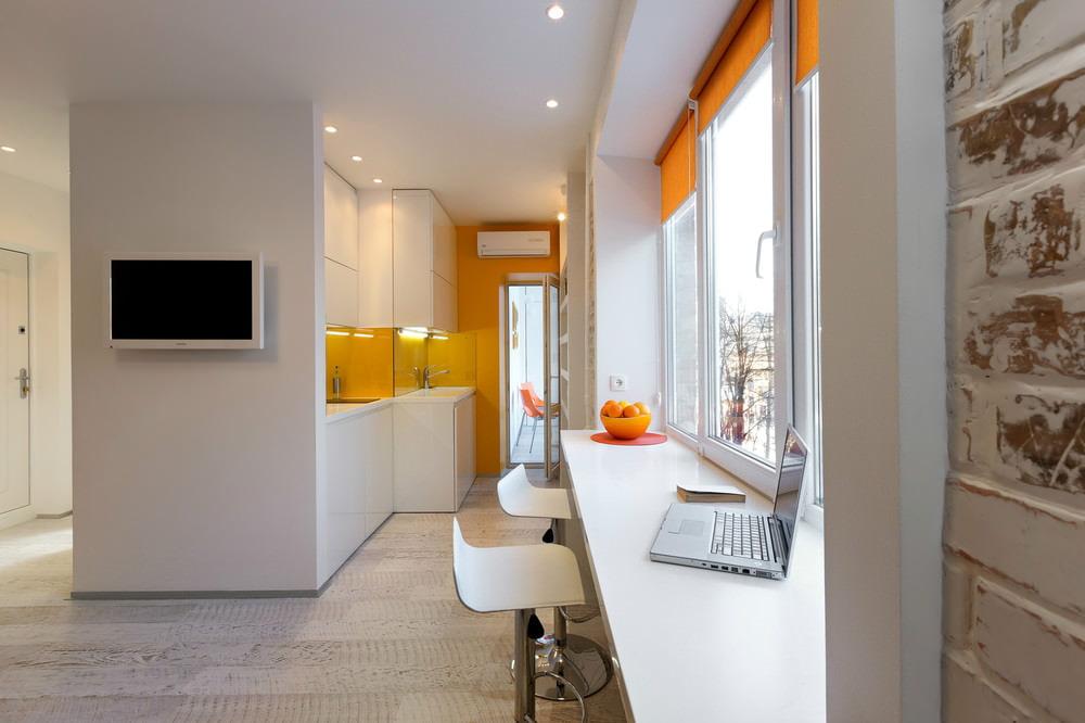 Дизайн студии 22 кв.м