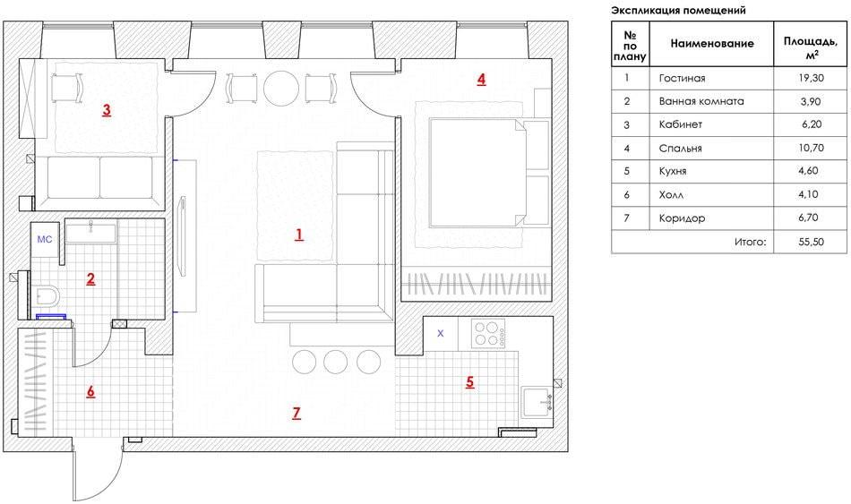 Дизайн стандартной спальни