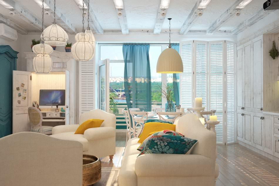 Дизайн гостиной в стиле средиземноморском