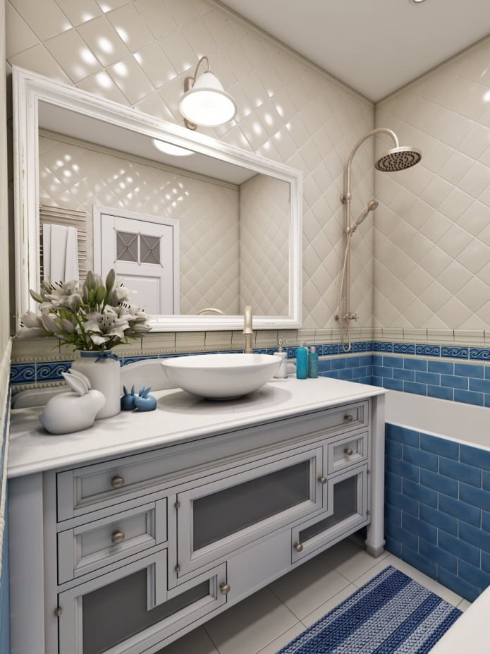Росписи на стенах в ванной