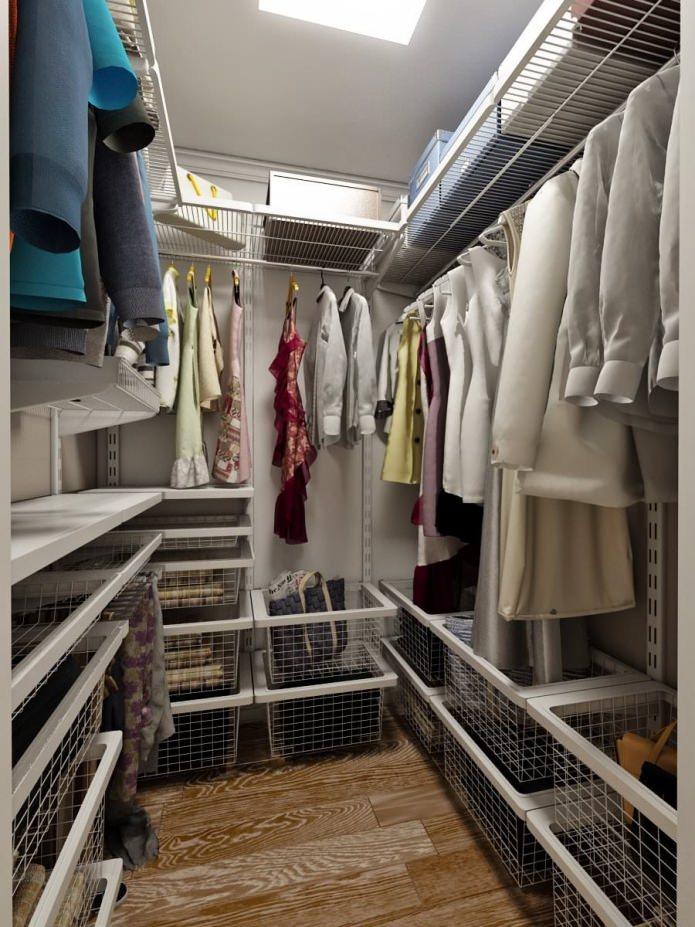 гардеробная в интерьере квартиры