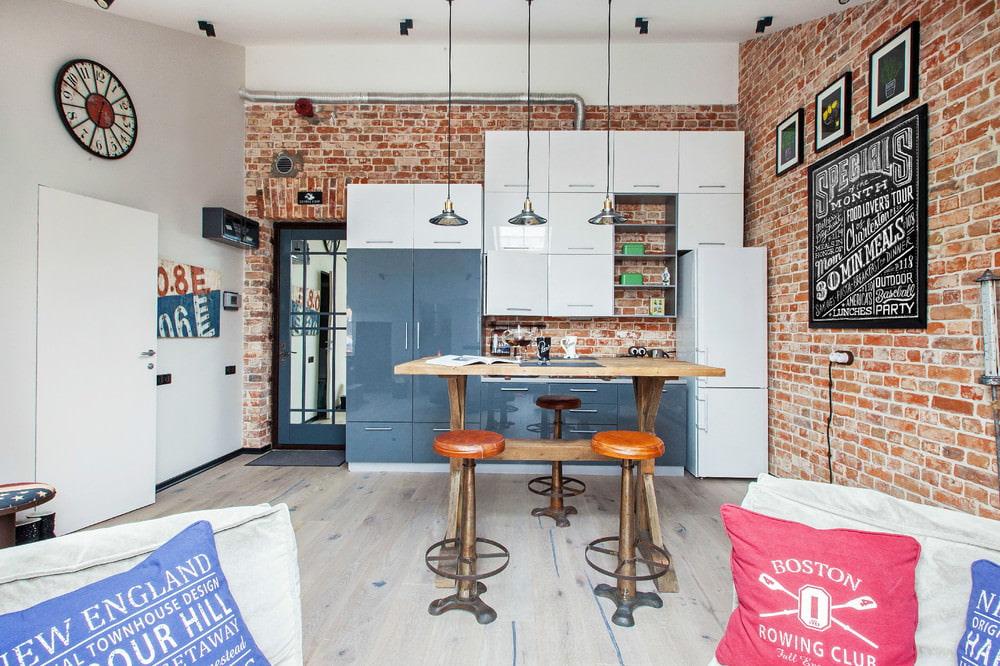 Дизайн маленьких кухонь в стиле лофт