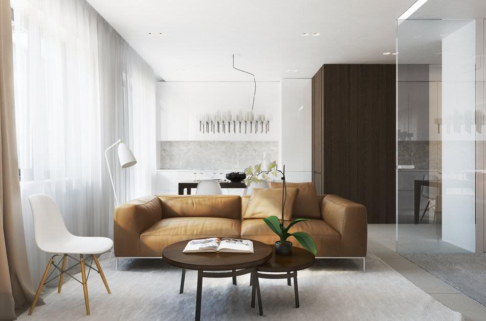 Дизайн 1-комнатной квартиры 38 кв. м.