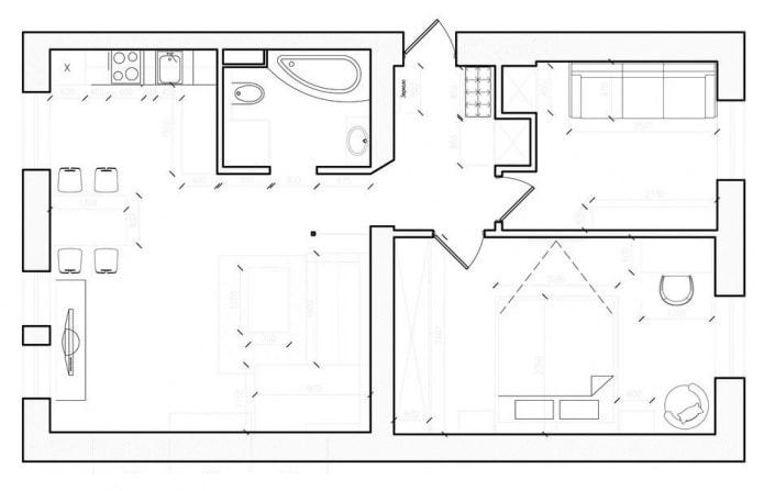планировка в дизайн проекте 3 комнатной квартиры