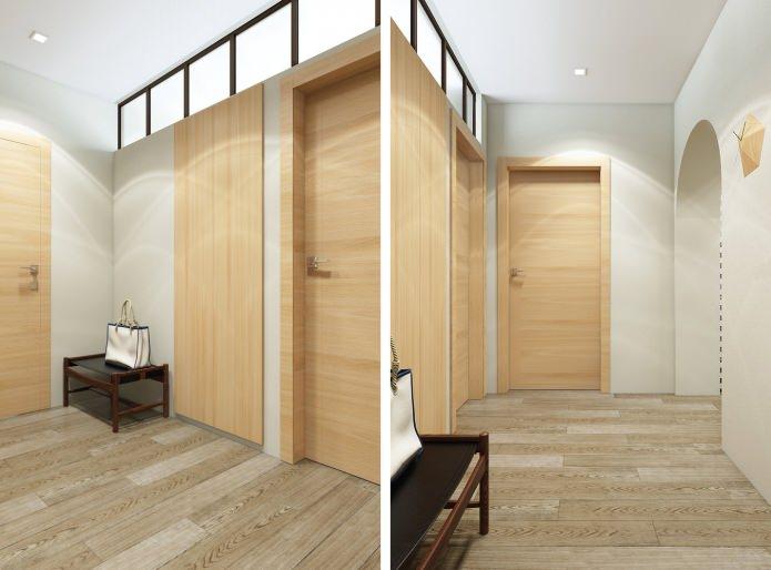 прихожая в дизайн-проекте 3-комнатной квартиры