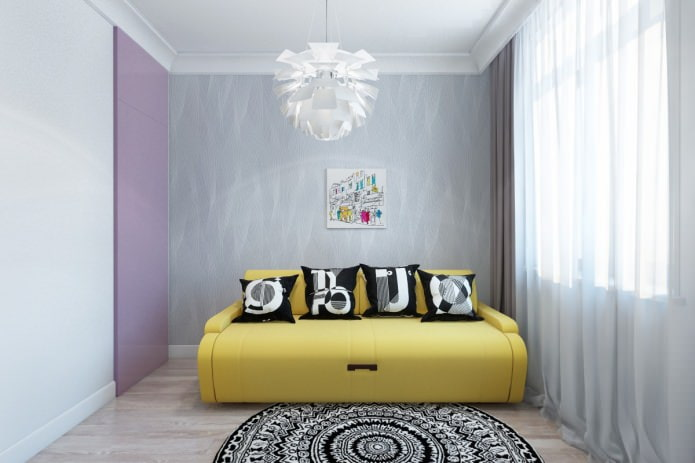 гостевая комната в современной красивой квартире