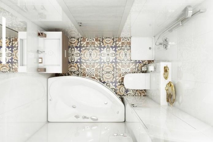 ванная комната в современной красивой квартире