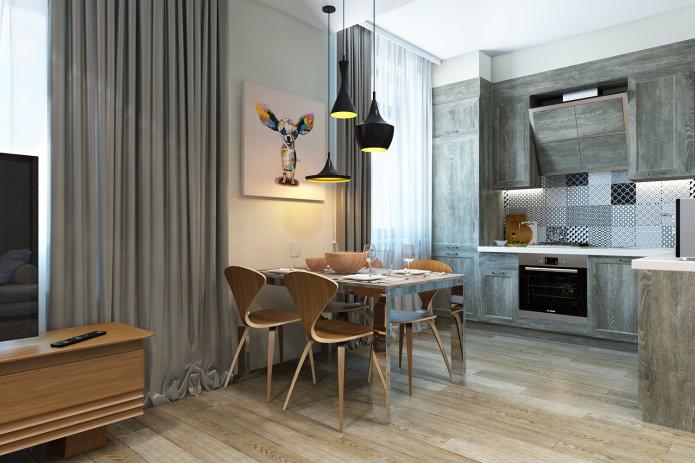 интерьер современной красивой квартиры
