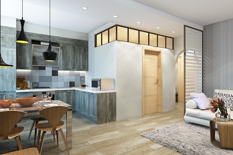 Дизайн 4 комнатной квартиры в кирпичном доме