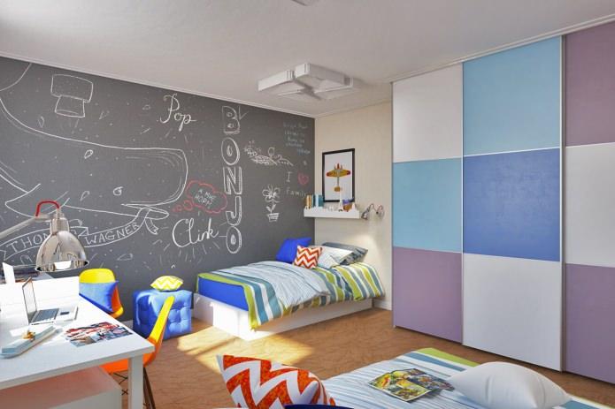 Детская для двух мальчиков в современном оформлении квартиры