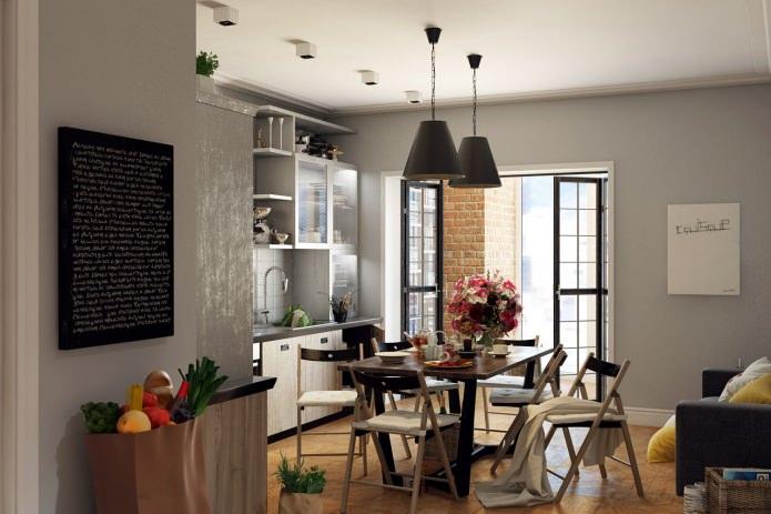 кухня в современном оформлении квартиры