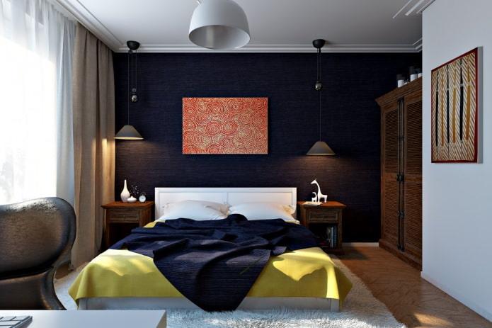 спальня в дизайн-проекте 4-комнатной квартиры