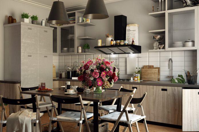 кухня в дизайн-проекте 4-комнатной квартиры