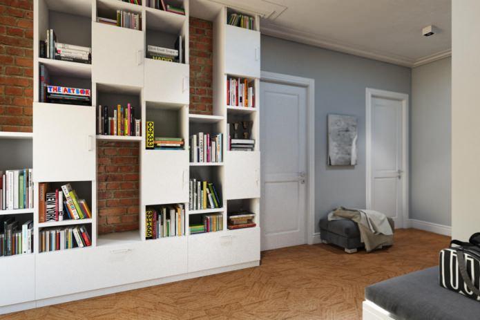 прихожая в дизайн-проекте 4-комнатной квартиры